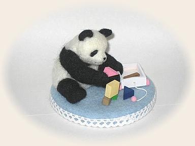 羊毛フェルト☆積み木遊び