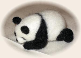 カゴ入り子パンダ