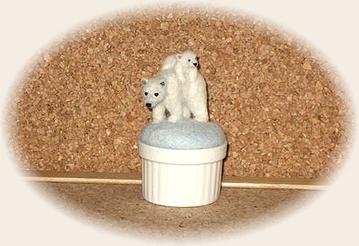 羊毛フェルト☆シロクマ親子のピンクッション