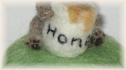 羊毛フェルト☆テディベアのピンクッション