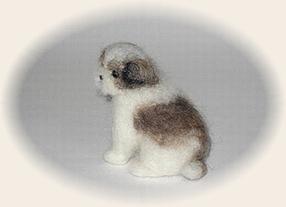 羊毛フェルト☆シーズーの子犬