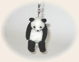 羊毛フェルト☆運ばれパンダ