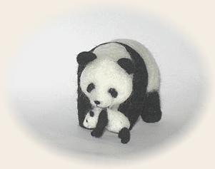 羊毛フェルト☆親子パンダ