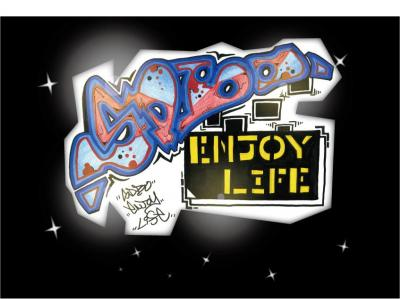 SDBO Enjoy Life GRAFFITI