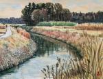 早春の用水路
