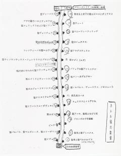カレル橋彫像配置図