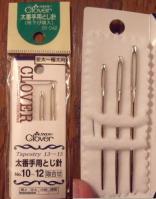 紐通しとして代用。毛糸とじ針です(^^)
