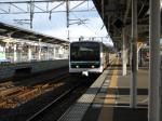 E501系と駅。