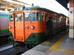 113系も廃車まであと数日。 さもないと長野(総)行き。