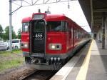 磐越西線455系。 喜多方にて。