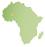 アフリカの地図小