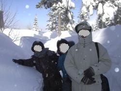 2月8日穂高雪の中1