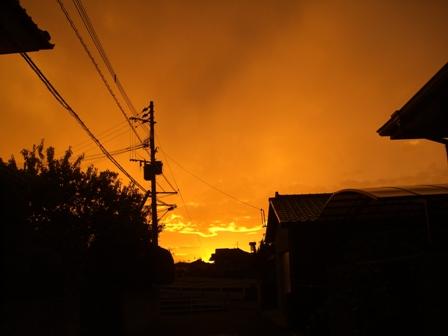 7月15日夕焼け