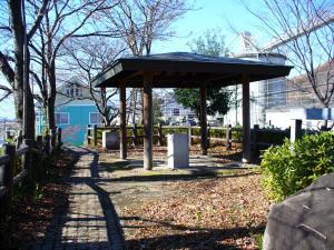 石和温泉駅すぐ傍の公園