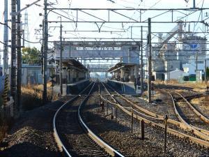 石和温泉駅ホーム