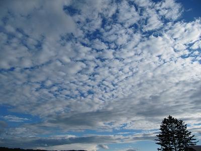雲が散っているぅ~