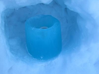 青い色キャンドル