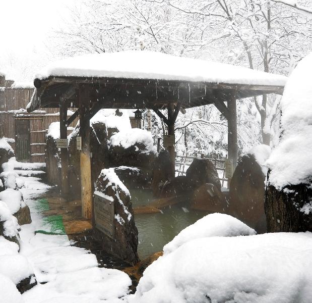 観光ホテルさん 冬の露天風呂
