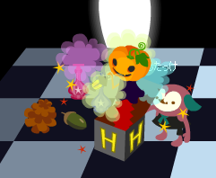 かぼちゃにびっくり