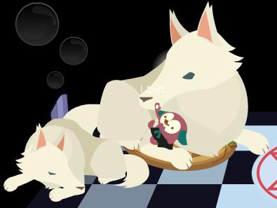 オオカミベッド