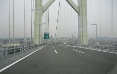 明石大橋にて