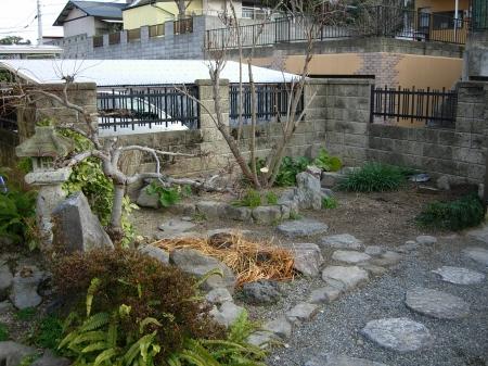 東の庭の眺め
