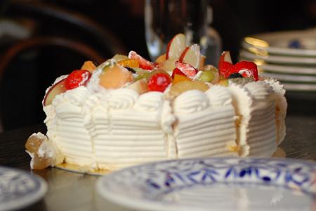 ケーキがこげなことに・・・。