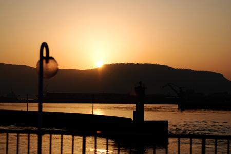 朝陽です(夕陽じゃないよ)