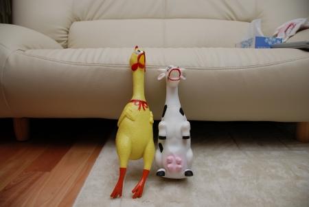 鳥さんと牛さん(デカイ)