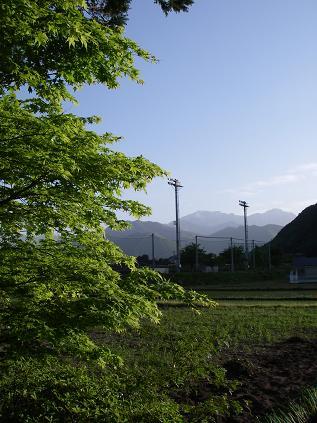 家の横より(2009年5月)