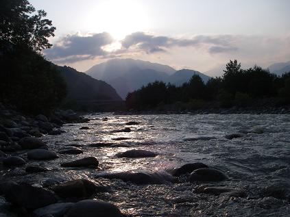 近所の川(2009年6月28日)