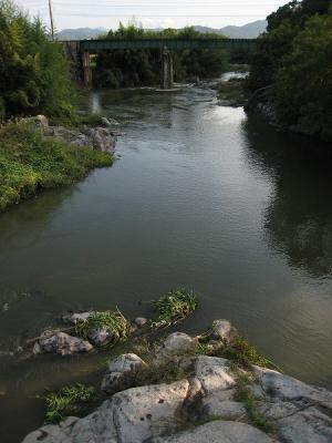 2008/10/06滝宮歩行橋から上