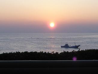 望水露天からの朝焼け