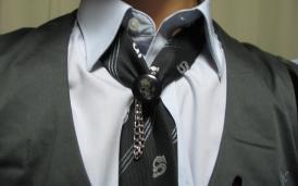 ネクタイのアップ