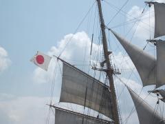 s日本丸、国旗