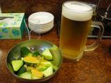 ビールとキュウリ
