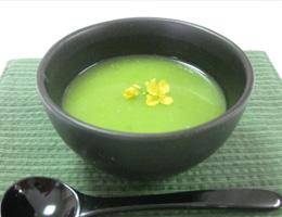 グリーンピースのお汁粉