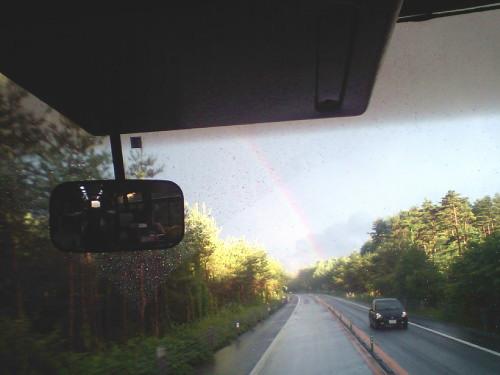 雨上がりの虹♪
