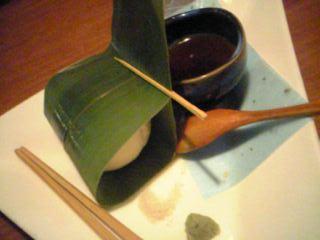『音音名物 手作り笹もち豆腐』だよ