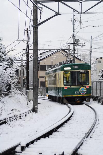 雪中江ノ電号
