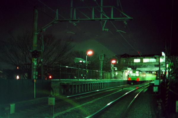 夜のJR稲荷駅