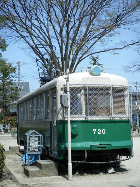 旧京都市電720号