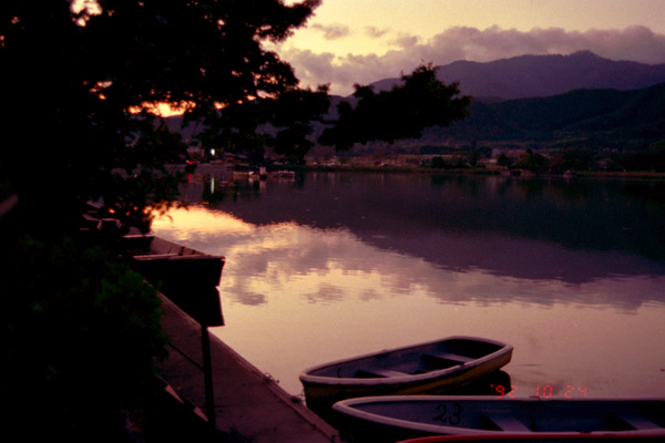夕景広沢池、1992