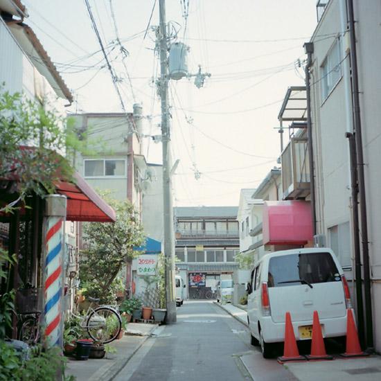 銭湯へ続く路地/中堂寺