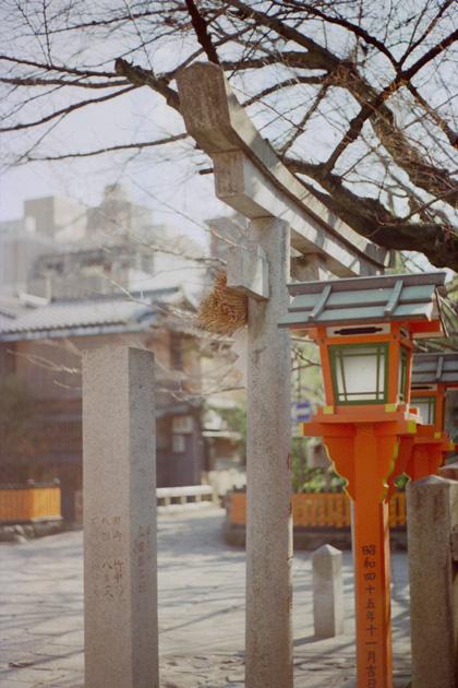 祗園新橋・巽神社/冬