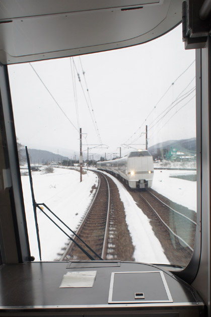 離合/雪景色