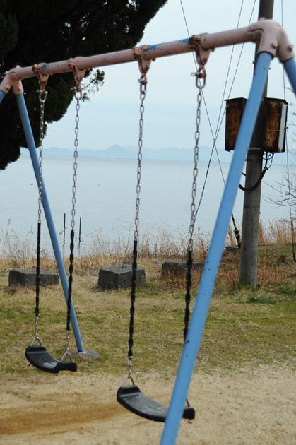 湖岸の公園