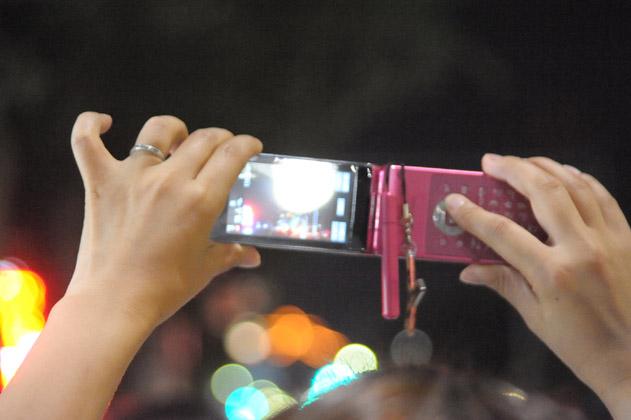 携帯にて撮影中
