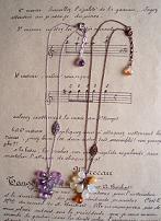 天然石葡萄ネックレス