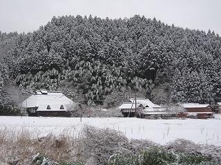 君田の雪景色